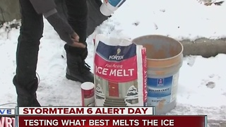 What works best to melt ice on your sidewalk and driveway - Video