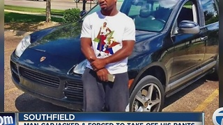 Police: Man forced to strip before his Porsche is stolen in Southfield - Video