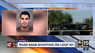 Man arrested for shooting driver on Loop 101 - Video