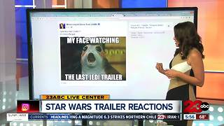 Reaction to Star Wars Last Jedi Trailer - Video