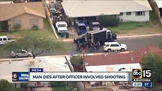 Man dies after officer-involved shooting in Mesa - Video