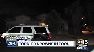 Buckeye toddler pulled from pool passes away - Video