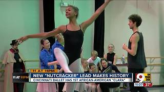 New Nutcracker lead makes history - Video