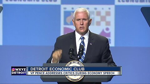 Vice President Mike Pence speaks to Detroit Economic Club