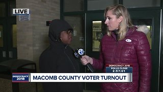 Macomb County turnout - Video
