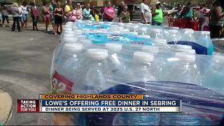 Lowe's offers free dinner in Sebring after Hurricane Irma - Video