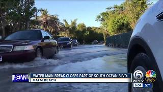 Water main breaks in Palm Beach - Video