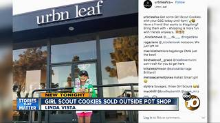 Girl Scout cookies sold outside marijuana dispensary - Video