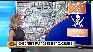 Children's Gasparilla Parade road closures