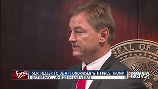 President Trump set to attend fundraising event with Senator Dean Heller - Video