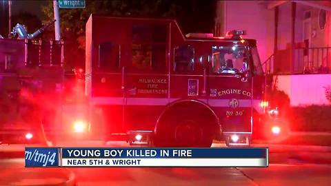 12-year-old boy dies in Milwaukee house fire