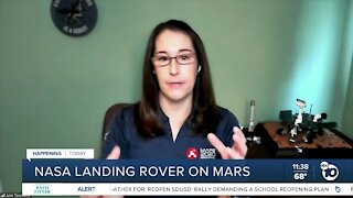 NASA landing rover on Mars