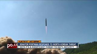 Sen. Portman, Sen. Brown responds to North Korean threat - Video