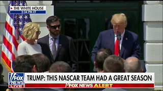 Trump Puts the NFL to Shame, Praises NASCAR: 'They Do Indeed Stand for the Playing of the National Anthem' - Video