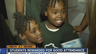 Sherman Park students rewarded for stellar attendance at school - Video