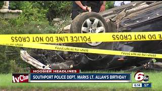 Southport police marks Lt. Aaron Allan's 40th birthday - Video