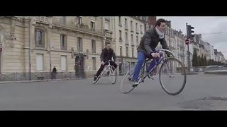 Skilled Bikers Riding Around Rennes in France - Video