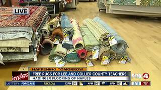 Annual rug giveaway for Lee and Collier County teachers - Video