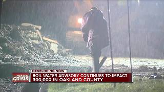 Boil water advisory continues to impact 300K in Oakland County
