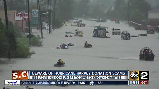 Beware of Hurricane Harvey donation scams - Video
