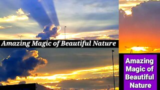 Amazing magic of nature beautiful fire in the sky