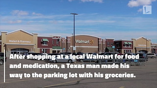 Police Officer Buys Sick Man's Groceries & Medication After They're Stolen at Walmart - Video