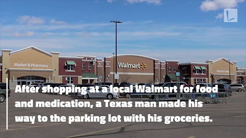 Police Officer Buys Sick Man's Groceries & Medication After They're Stolen at Walmart