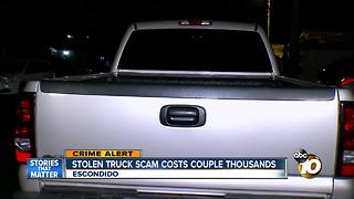 Stolen truck scam costs couple thousands - Video