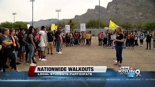 Students walkout of Canyon Del Oro High School