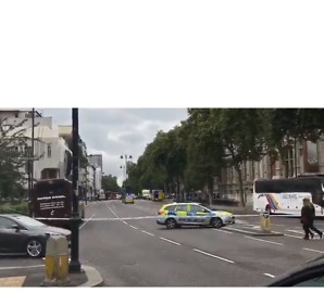 Man Detained After Car 'Mounts Pavement' in Kensington - Video
