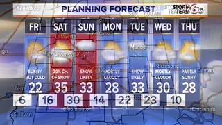 Winter returning: Cold and snow. - Video