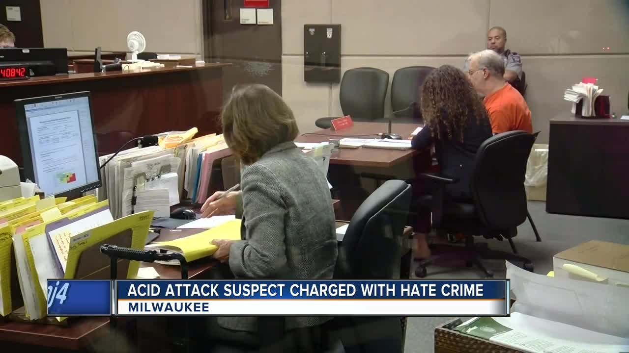 Milwaukee man charged with hate crime after acid attack