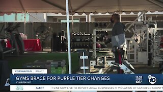 San Diego gyms brace for COVID-19 purple tier changes
