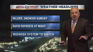 11pm Saturday First Alert Forecast - Video