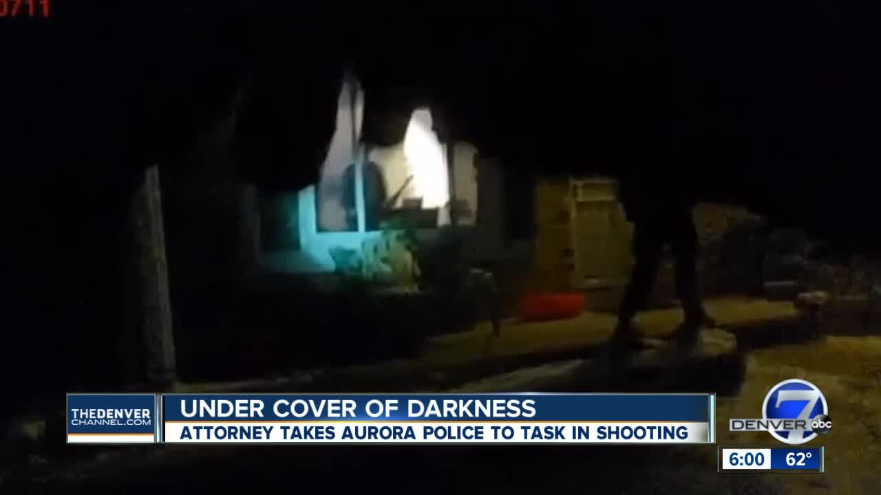 Under cover of darkness: Attorney takes Aurora police to task in shooting
