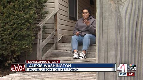 St. Joseph woman finds bomb on front porch