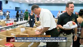 Family of first African American Manatee Co. deputy honors his spirit with Thanksgiving giveaway - Video