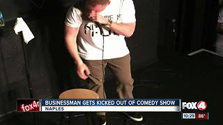 business man gets kicked out of comedy show - Video