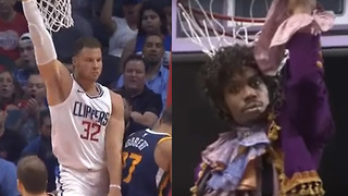 Blake Griffin Impersonates Dave Chappelle's Prince Sketch with Dunk - Video