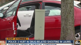 2 hurt in drug-related shooting in Laurel - Video
