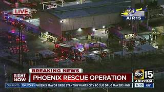 Crews working confined space rescue in west Phoenix - Video