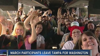 March participants leave Tampa for Washington - Video