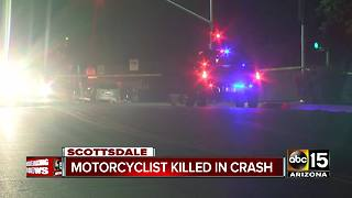 Motorcyclist dead after Scottsdale crash - Video