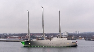 Superyacht Sets Off From Northern Germany - Video