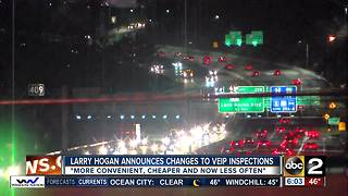 Larry Hogan announces changes to Vehicle Emissions Inspections Program - Video
