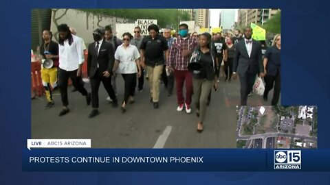 Phoenix Police Chief Jeri Williams joins protests in downtown Phoenix