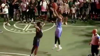 D'Angelo Russell RUSHED by Brooklyn Fans After Hitting Streetball Game-Winner - Video