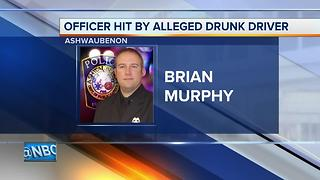 'He's in bad shape:' Ashwaubenon officer recovering after being hit by alleged drunk driver - Video