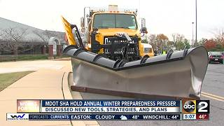 Department of Transportation State Highway Administration readies for winter 2017-18