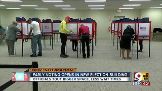 Hamilton County sees increase in early voting on first day at new location - Video